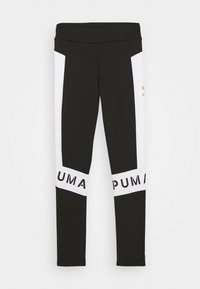 Puma - COLOR BLOCK LEGGINGS - Leggings - black/white - 0
