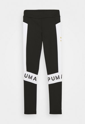 COLOR BLOCK LEGGINGS - Punčochy - black/white