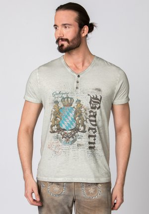 LUGGI - Print T-shirt - grey