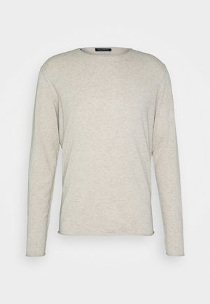 SLHDOME CREW NECK - Stickad tröja - light sand melange