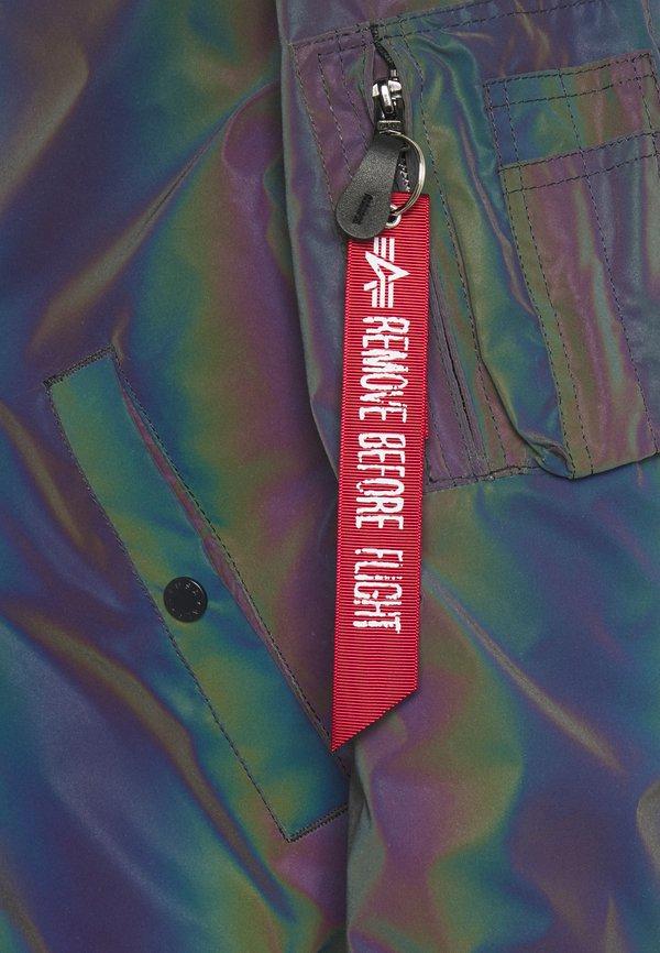 Alpha Industries RAINBOW REFLECTIVE - Kurtka Bomber - rainbow/reflective/srebrny Odzież Męska ASTK