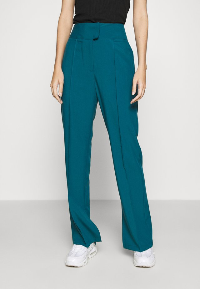 TROUSER - Trousers - teal