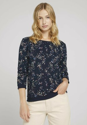 Jumper - navy colorful stain design