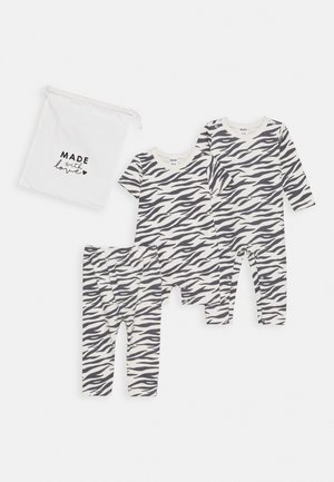 BUNDLE SNAP ROMPER SHORT SLEEVE ROMPER SET UNISEX - Legging - dark vanilla
