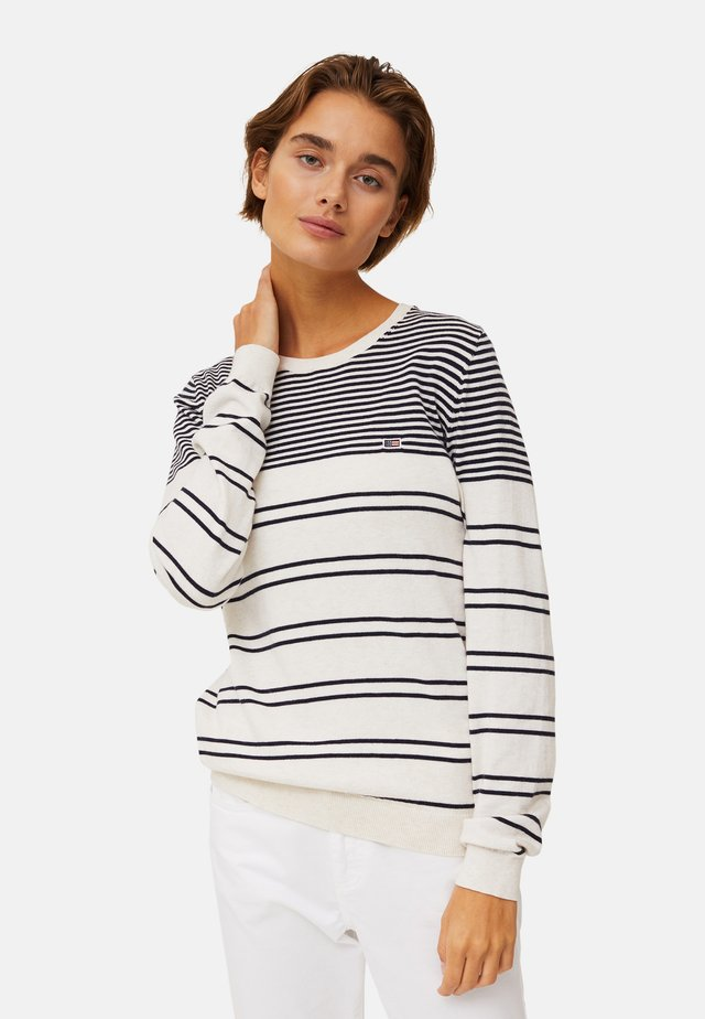 Neule - white/blue stripe