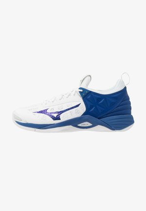 WAVE MOMENTUM - Volleyball shoes - white/true blue