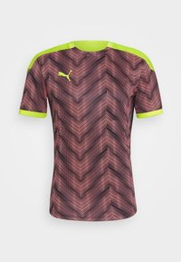 Puma - GRAPHIC  - Print T-shirt - peach/fizzy yellow - 4