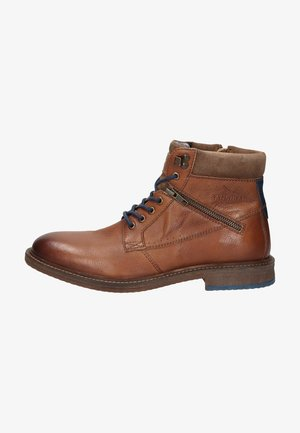 Lace-up ankle boots - medium brown