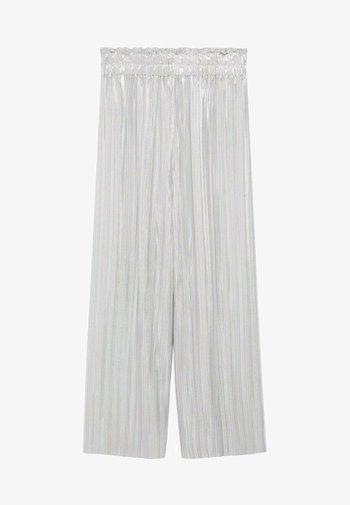 PLEATS - Trousers - argent