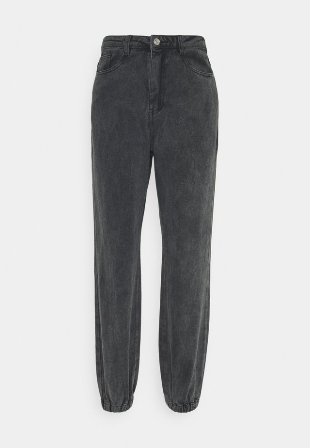 RIOT HIGHWASITED MOM - Relaxed fit jeans - black