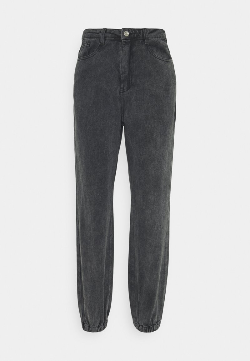 Missguided - RIOT HIGHWASITED MOM - Relaxed fit jeans - black