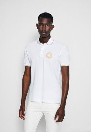 Polo shirt - bianco/gold