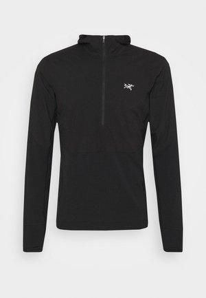 APTIN ZIP HOODY MENS - Fleece jumper - black