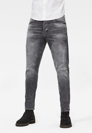 SCUTAR 3D SLIM TAPERED - Slim fit -farkut - vintage basalt