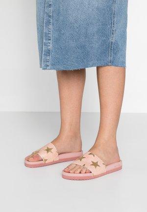 POOL STARLIGHT - Pantofle - silver/pink