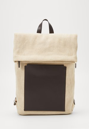 UNISEX LEATHER - Mochila - beige