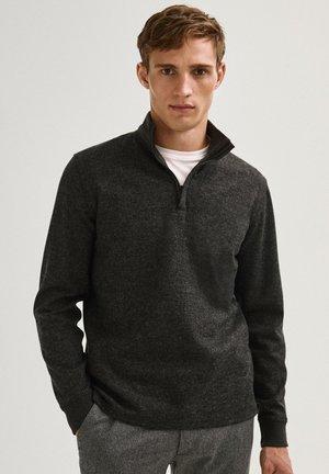 AUS WOLLE MIT STEHKRAGEN - Sweatshirt - grey