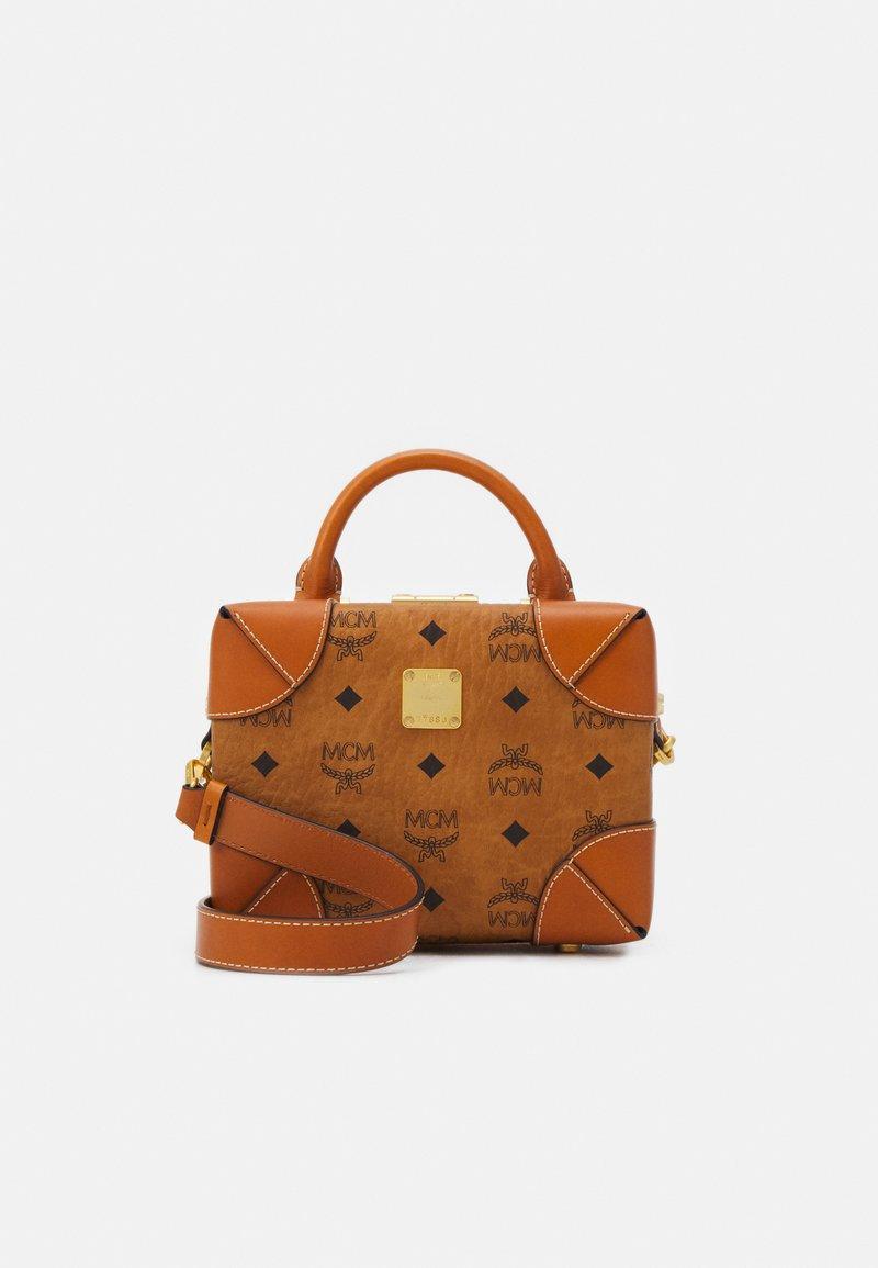 MCM - SOFT BERLIN VISETOS CROSSBODY SMALL - Across body bag - cognac