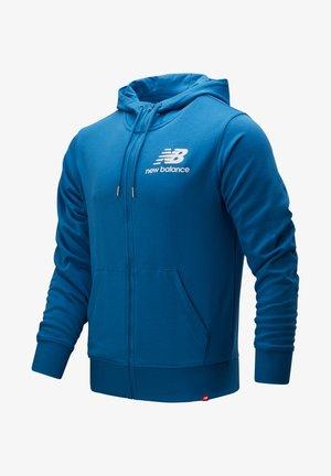 Zip-up hoodie - mak makoblu