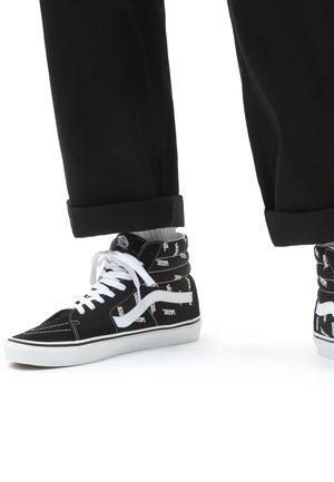 Sneakers hoog - black/true white