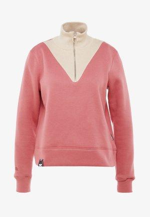 Sweatshirt - cream red combo