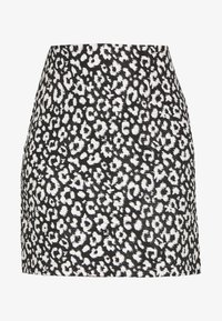 Dorothy Perkins - MONO ANIMAL TEXTURED SKIRT - A-line skirt - black - 3