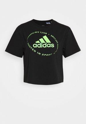 CIRCLED TEE - Camiseta estampada - black