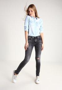 Vila - Button-down blouse - light blue denim - 1