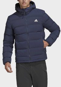 adidas Performance - HELIONIC SOFT HOODED DOWN JACKET - Down jacket - blue - 2