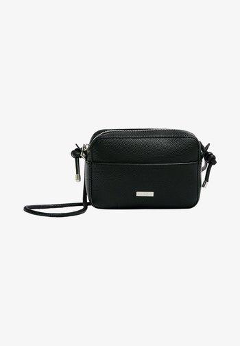 MIT ZIERKNOTEN - Across body bag - black