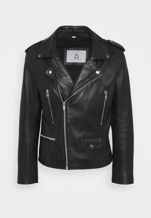 MANITQUE - Leather jacket - black