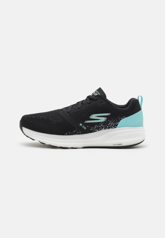 GO RUN RIDE 8 - Neutral running shoes - black/turquoise
