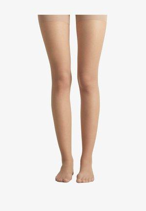 Over-the-knee socks - nude