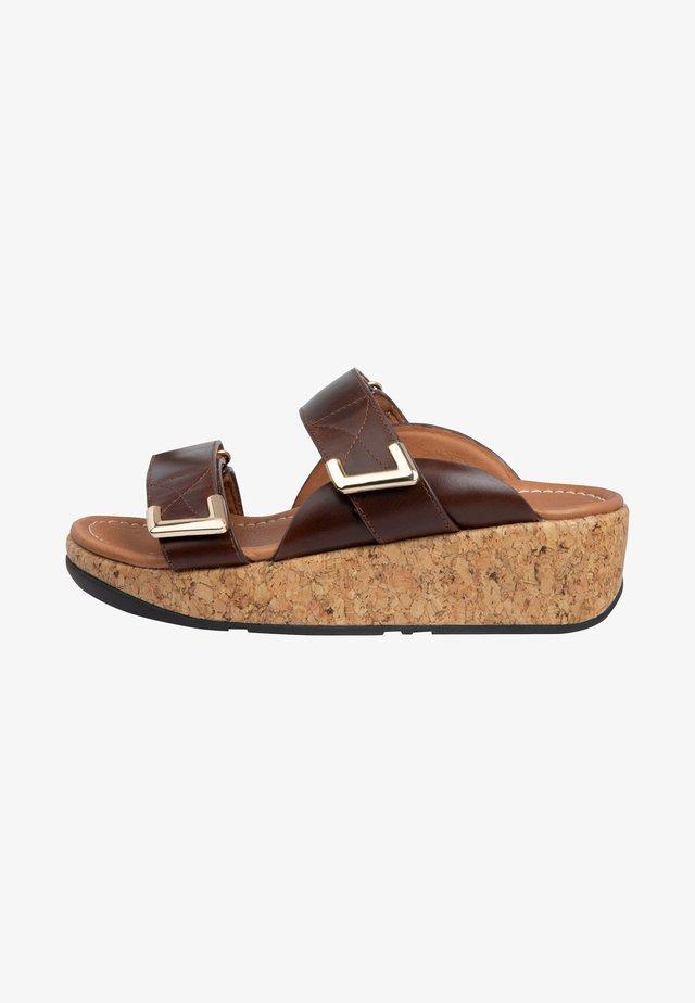 Platform sandals - chocolate brown