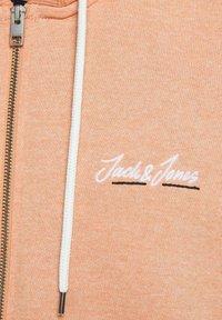 Jack & Jones - Tröja med dragkedja - shell coral - 5