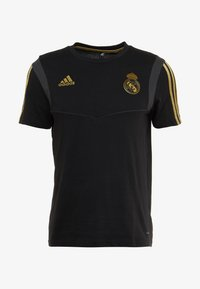 adidas Performance - REAL MADRID TEE - Club wear - black/gold - 5