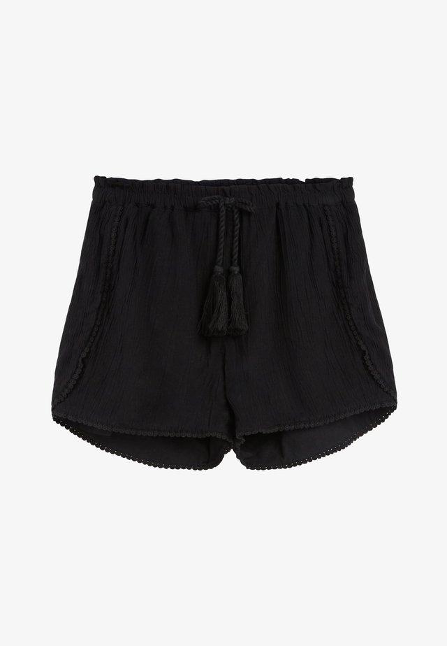 BLACK TRIM DETAIL SHORTS (3-16YRS) - Short - black