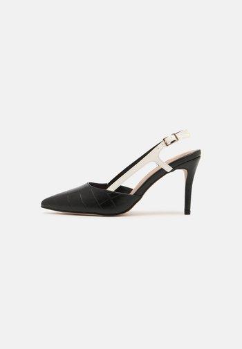 DAMARIS SLING COURT - Classic heels - black