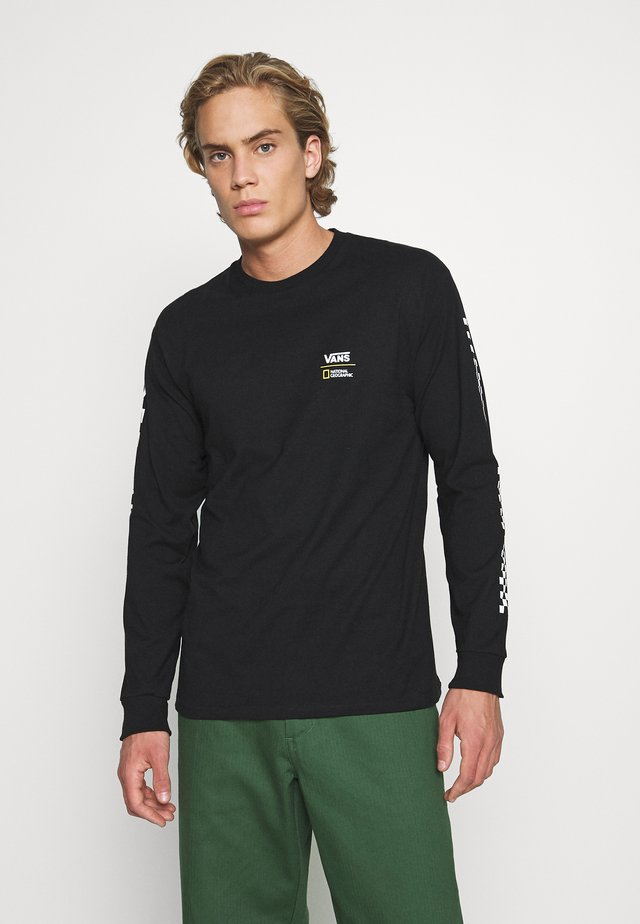 VANS X NATIONAL GEOGRAPHIC GLOBE  - Long sleeved top - black