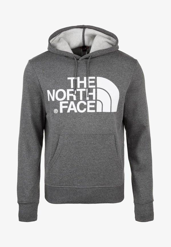 The North Face STANDARD HOODIE - Bluza z kapturem - medium grey heather/szary melanż Odzież Męska XSFP