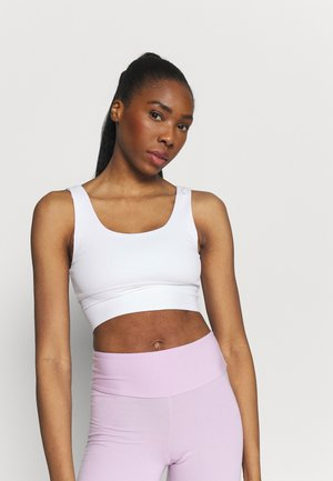SCOOP NECK VESTLETTE - Top - white
