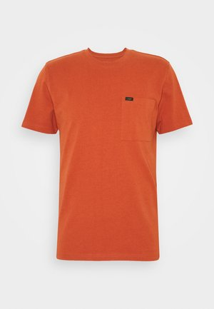 POCKET TEE - Basic T-shirt - burnt ocra