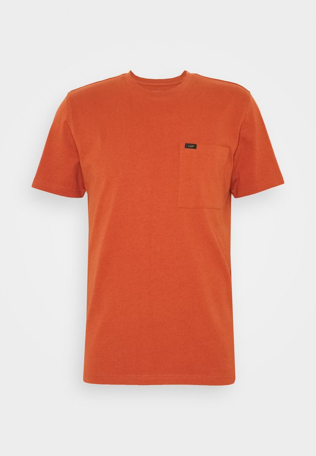 POCKET TEE - Basic T-shirt - burnt ocra
