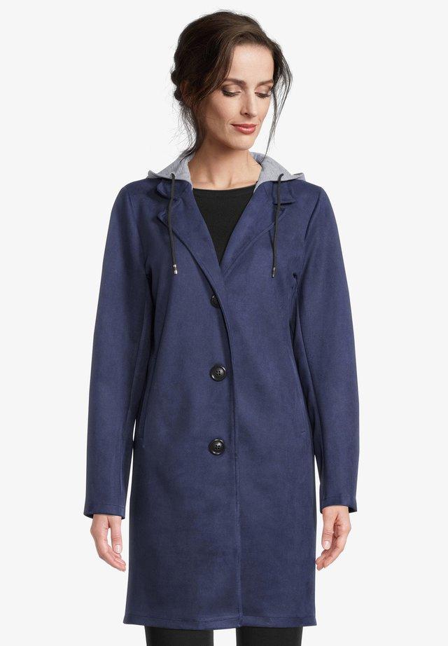 Halflange jas - tintenblau
