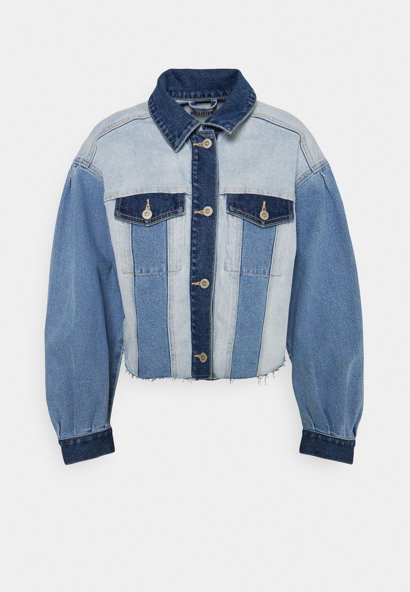 Hollister Co. - PATCHWORK - Veste en jean - indigo