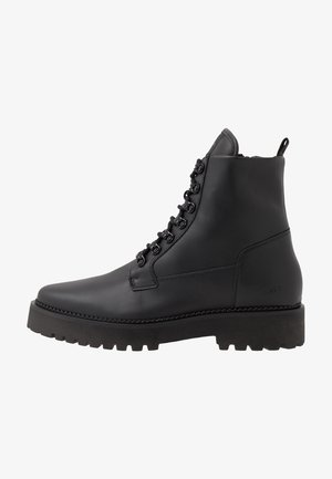LOGAN HARBOR - Lace-up ankle boots - black