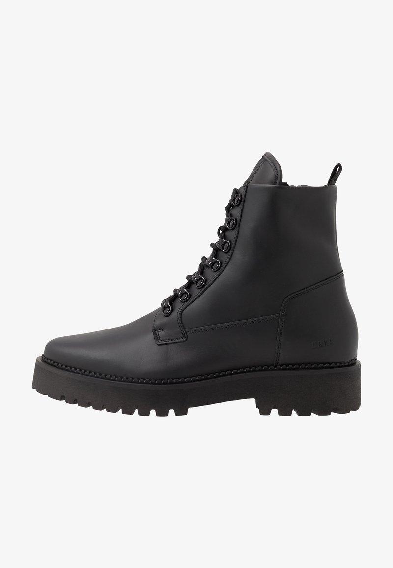 Nubikk - LOGAN HARBOR - Lace-up ankle boots - black