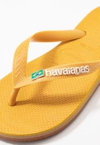 Havaianas - BRASIL LAYERS - Pool shoes - burned yellow - 5