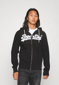 Superdry - ZIPHOOD - Zip-up hoodie - black - 0