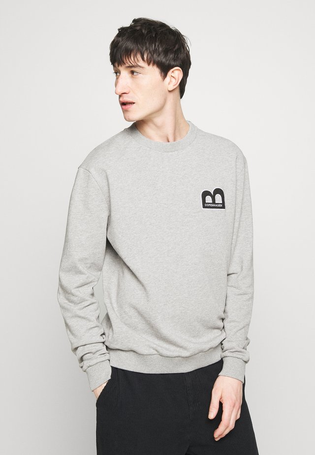 ROGER HUGO CREW NECK - Sweatshirt - light grey melange